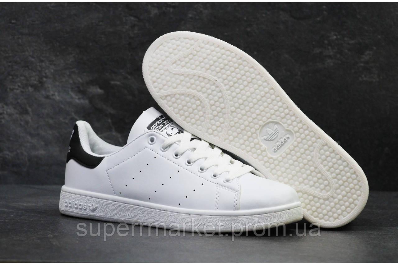 Кроссовки Adidas Stan Smith белые с черным, код5879