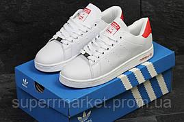 Кроссовки Adidas Stan Smith белые с красным, код5888, фото 2