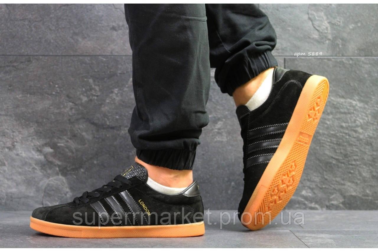 Кроссовки Adidas London черные. Код  5889
