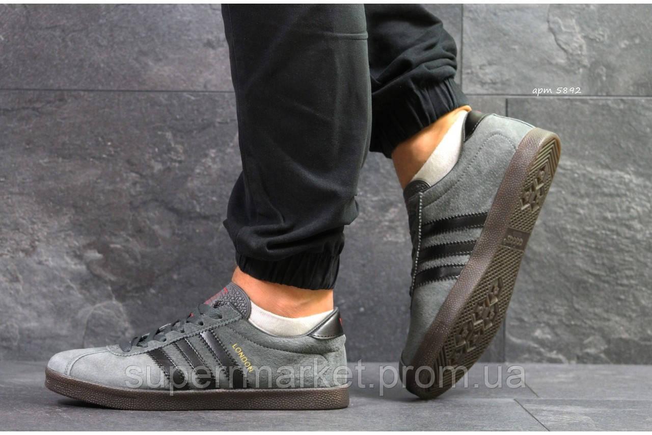 Кроссовки Adidas London темно-серые, код 5892