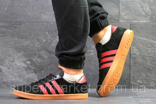 Кроссовки Adidas London черные с красным, код 5894, фото 2