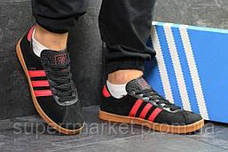 Кроссовки Adidas London черные с красным, код 5894, фото 3