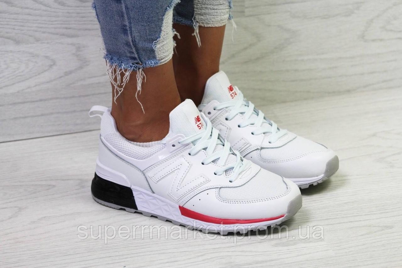 Кроссовки в стиле New Balance белые. Р37