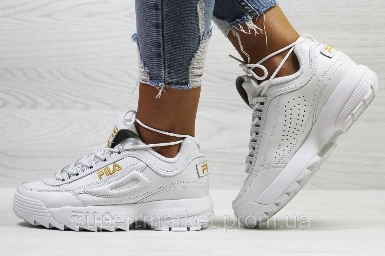 Кроссовки в стиле Fila белые. Р40