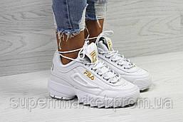 Кроссовки в стиле Fila белые. Р40, фото 3