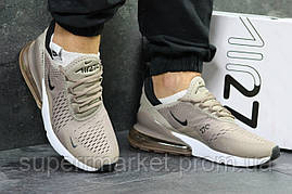 Кроссовки Nike Air Max 270 бежевые, код5909, фото 3