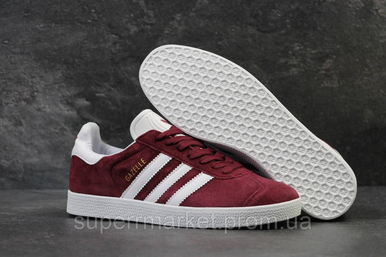 Кроссовки Adidas бордовые. Код  5914