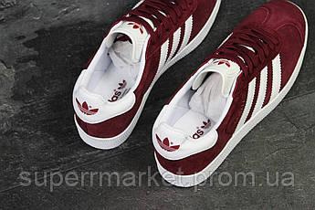 Кроссовки Adidas бордовые. Код  5914, фото 2