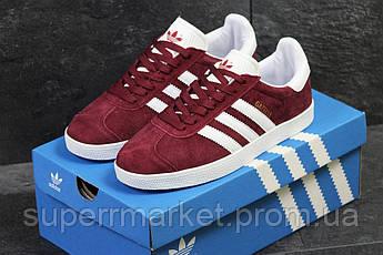 Кроссовки Adidas бордовые. Код  5914, фото 3