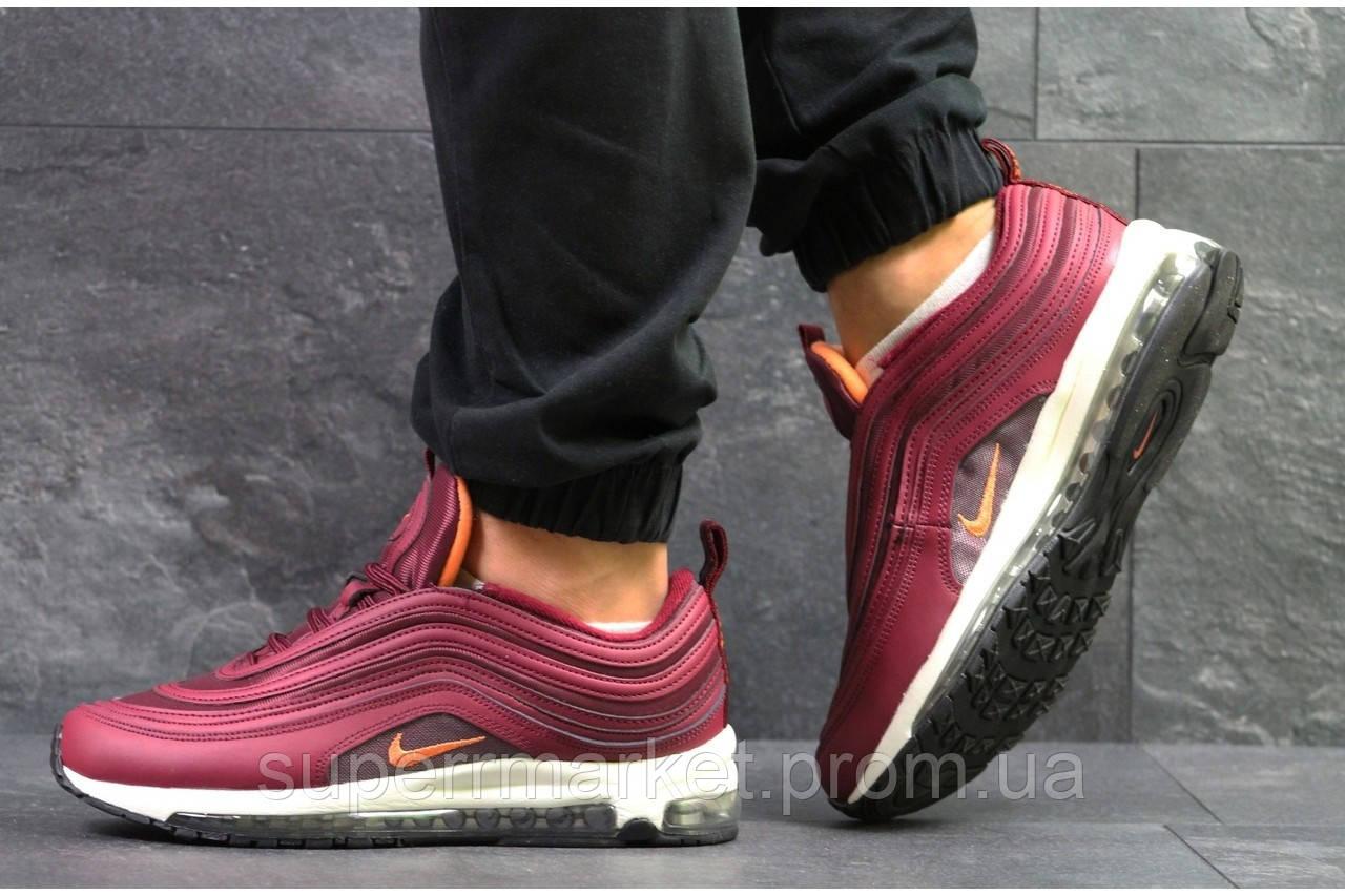 Кроссовки Nike Air Max 97 бордовые, код5915