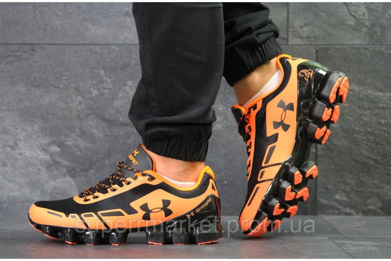 Кроссовки Under Armour Scorpio черные с оранжевым. Код 5949
