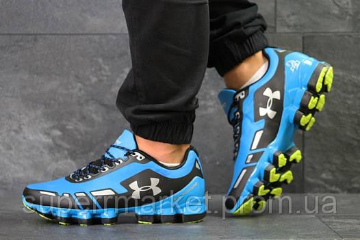 Кроссовки в стиле Under Armour Scorpio голубые с черным, код5950, фото 2