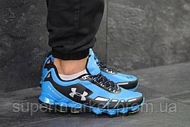 Кроссовки в стиле Under Armour Scorpio голубые с черным, код5950, фото 3