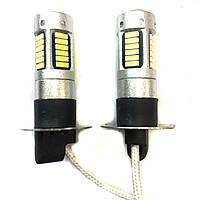 Лампа LED 12V H3 30SMD 4014 драйвер белый драйвер обманка 250Lm