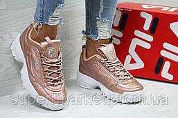 Кроссовки в стиле Fila розовые, код5962, фото 2