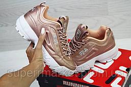 Кроссовки в стиле Fila розовые, код5962, фото 3