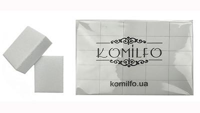 Набор шлифовщиков для ногтей Komilfo 32/25/12 мм, белый, 120/120, 50 шт