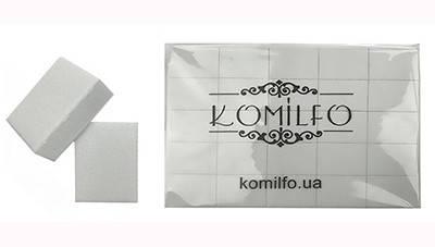 Набор шлифовщиков для ногтей Komilfo 32/25/12 мм, белый, 120/120, 50 шт, фото 2