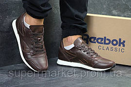 Кроссовки Reebok Classic кожа, темно-коричневые, код5976, фото 3