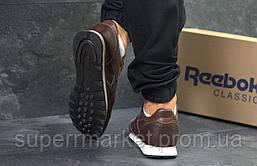 Кроссовки Reebok Classic кожа, темно-коричневые, код5976, фото 2