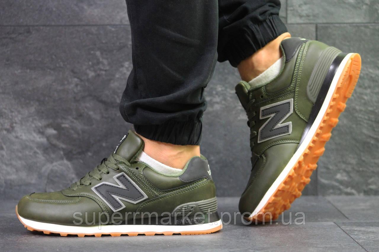 Кроссовки New Balance 574 зеленые, код5994