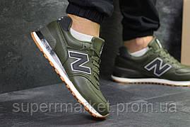 Кроссовки New Balance 574 зеленые, код5994, фото 3