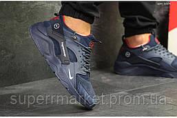 Кроссовки Nike Air Huarache Fragment Design синие. Код 6004, фото 3