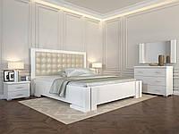 Кровать деревянная Амбер без подъёмного механизма из натурального дерева двуспальная