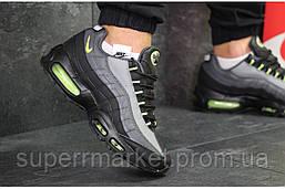 Кроссовки Nike Air Max 95 черные с серым. Код 6120, фото 2