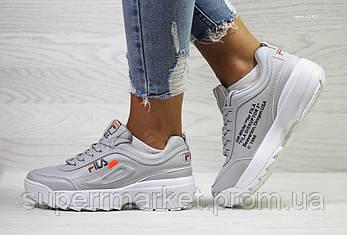 Кроссовки в стиле Disruptor 2 Yalor Off-white, серые, 39, код6142, фото 2