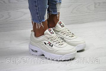 Кроссовки в стиле Disruptor 2 Yalor Off-white, бежевые, код6146, фото 2