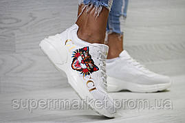 Кроссовки в стиле GUCCI,белые. Код 6149, фото 2