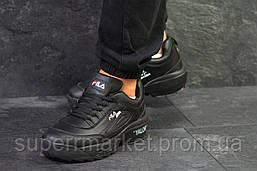 Кроссовки Fila черные, код6151, фото 2