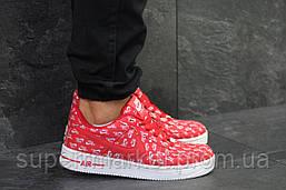Кроссовки Nike Air Force 1 Low красные, код6157, фото 2