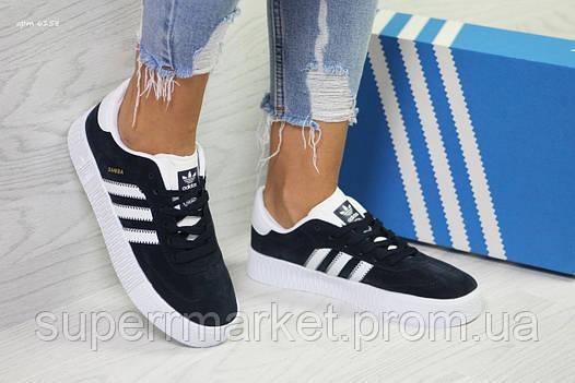 Кроссовки в стиле Adidas Samba темно-синие, код6158, фото 2