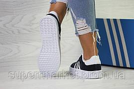 Кроссовки в стиле Adidas Samba темно-синие, код6158, фото 3