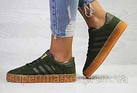Кроссовки в стиле Adidas Samba темно-зеленые, код6160, фото 3