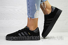 Кроссовки в стиле Adidas Samba черные, код6161, фото 3