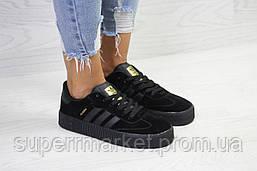 Кроссовки в стиле Adidas Samba черные, код6161, фото 2