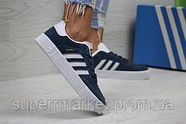 Кроссовки Adidas Samba синие. Код 6163, фото 3