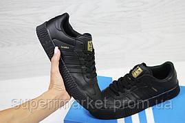 Кроссовки в стиле Adidas Samba черные кожа, код6167, фото 2