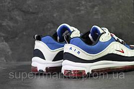 Кроссовки в стиле Nike 6169 белые с синим, фото 3