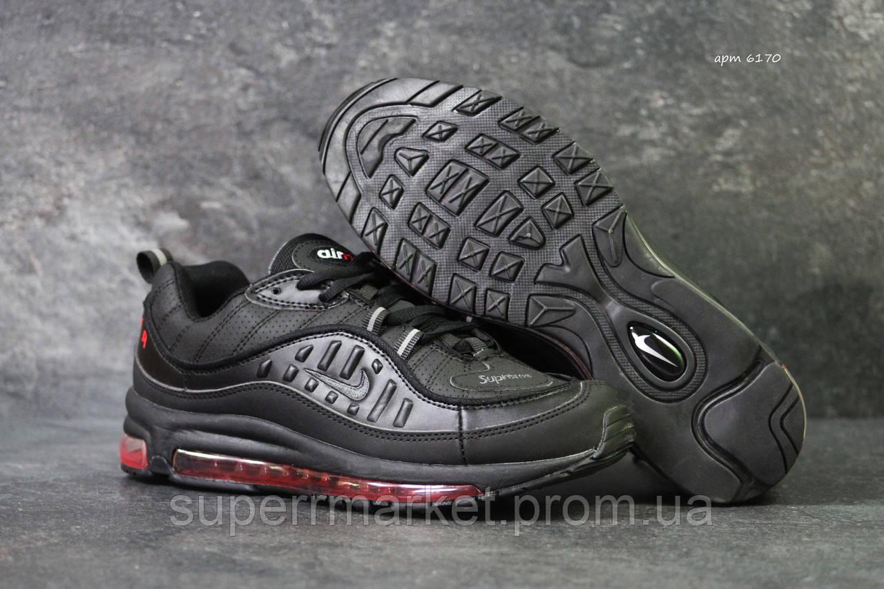 Кроссовки Nike Air Max 98 черные с красным, код6170