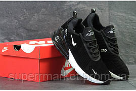 Кроссовки Nike Air Max 270 черные с белым, код6182, фото 3