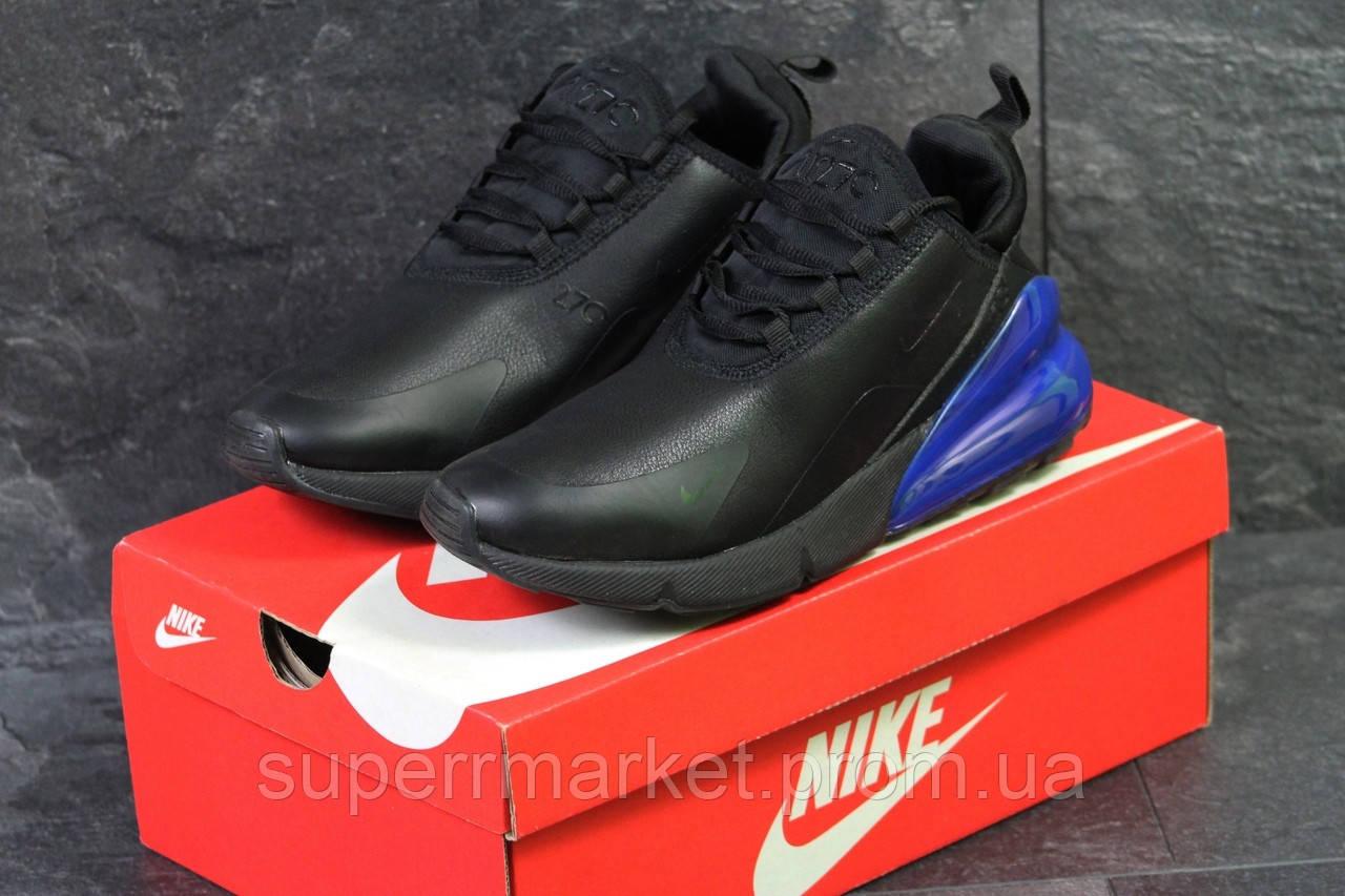 Кроссовки Nike Air Max 270 черные с синим, код6199