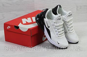Кроссовкив стиле Nike Air Max 270 белые с черным, код6204, фото 2