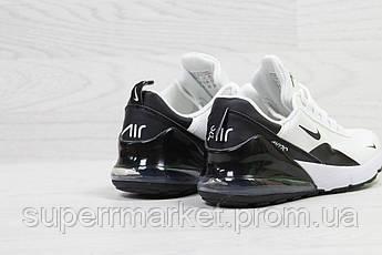 Кроссовкив стиле Nike Air Max 270 белые с черным, код6204, фото 3