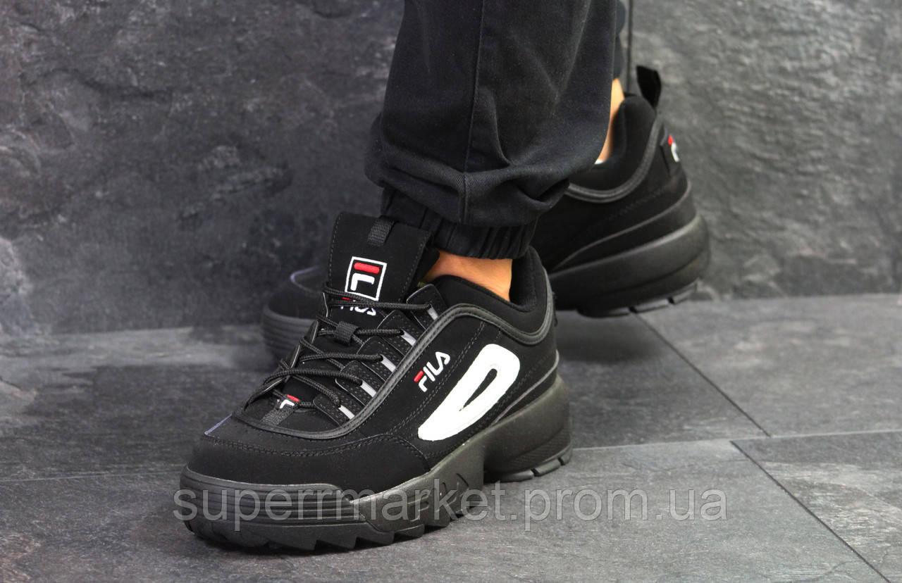 Кроссовки Fila черные, код6254