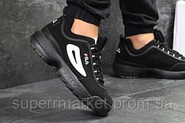 Кроссовки Fila черные, код6254, фото 3