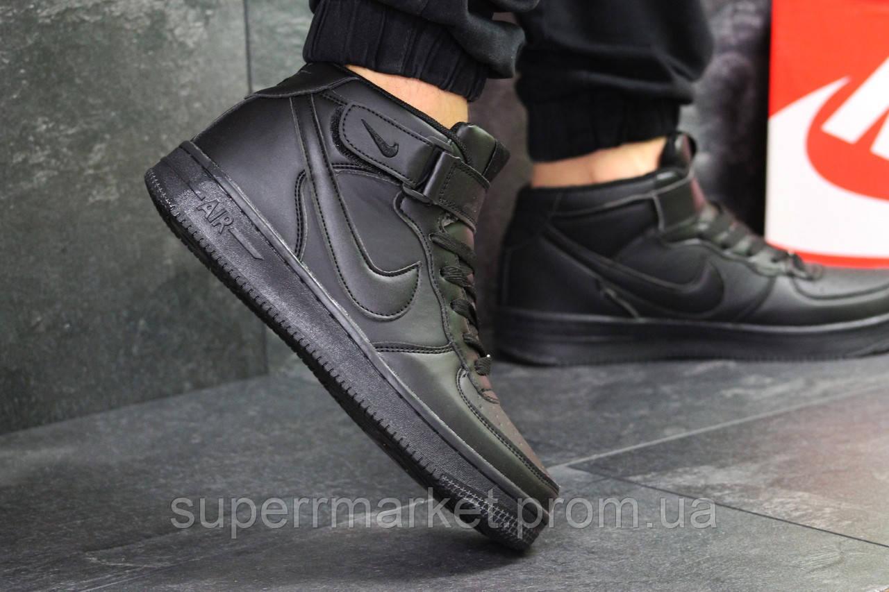 Кроссовки  Nike Air Force черные. Код 6375